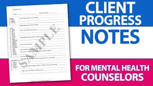 Writing Counselling Session Notes Easy Client Progress Note Template Tip For Mental Health
