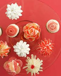 candy flower cupcakes no piping required martha stewart