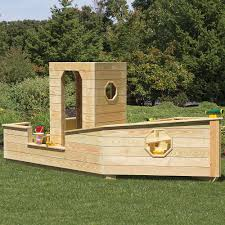 playground equipment or backyard playsets wooden sandbox boat kids