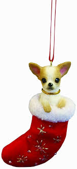 chihuahua ornament with santa s