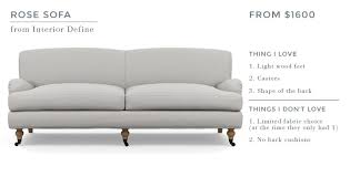sofa for tall person ginny u0027s english roll arm sofa emily henderson