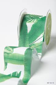 leaf ribbon miami vice trend 2 5 inch tropical leaves ribbon may arts