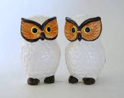 owl salt pepper etsy