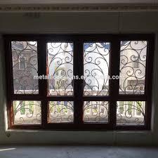 full welded iron window grills modern sliding window grill design