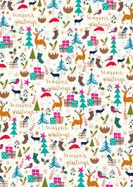 christmas wrapping paper seasons greetings christmas wrapping paper 3 sheets caroline