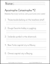 apostrophe catastrophe 2 second grade worksheet