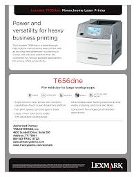 download free pdf for lexmark t656dne printer manual