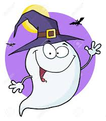 happy halloween ghost flying in night royalty free cliparts