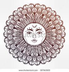 sun mandala ornament pattern vintage stock vector 275590934