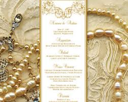 burgundy and gold wedding menu template maroon theme