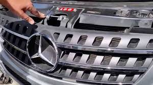 how to install remove your front grille on mercedes w164 in easy