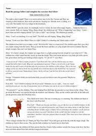 free worksheets christmas reading comprehension printables
