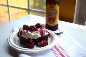 giveaway and peach ale cherries with chocolate stout whipped