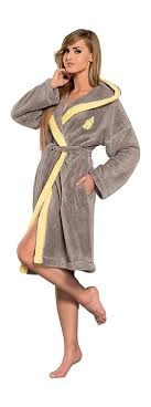 robe de chambre amazon femmes chaud tissu eponge luxe robe de chambre peignoir de bain
