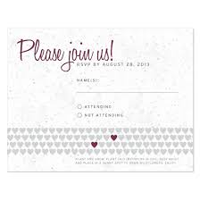 wedding reply cards two hearts plantable reply card plantable seed wedding reply