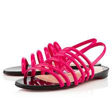christian louboutin atalanta flat sandals red women flat sandals