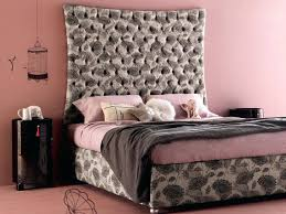 headboard upholstered headboard black gray bed tufted