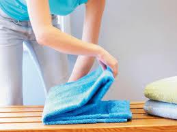 towel folding ideas for bathrooms how to fold a bath towel hgtv