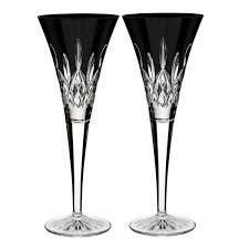 martini black lismore black flute pair waterford us