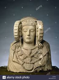 lady of elche iberian sculpture 4th century bc national stock