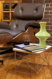 eames wire side table eames lounge ottoman with eames wire base side table