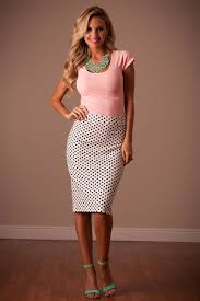 polka dot modest skirt by mikarose trendy modest dresses