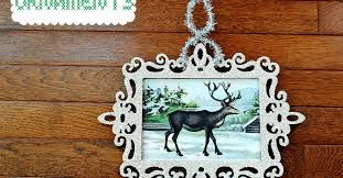 glass glitter frame ornaments hometalk