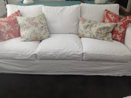 Canvas Sofa Slipcover Gorgeous Shiny Things Real Life White Slipcovers Keeping It Clean