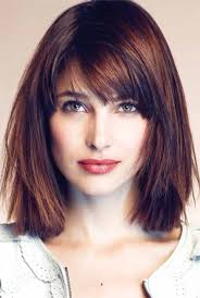 box layer haircut the best side swept bangs for square face shape hair pinterest