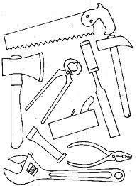 construction tools coloring pages hammer saw and wrench coloring pages use to make construction