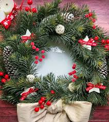 buy christmas wreath christmas on the door on the wall new year