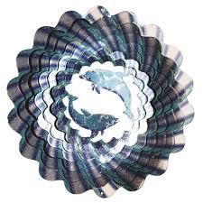 iron stop designer sun blue wind spinner wind