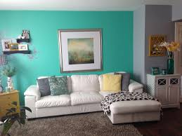 Yellow Feature Wall Bedroom Feature Wall In Bm Amelia Island Blue My New House Pinterest