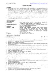 Examples Of Resume Summary by Sample Resume For Java Developer 1 Year Experience Intended For