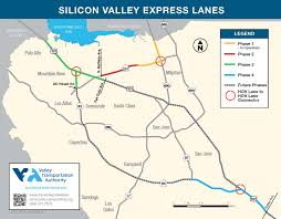 Bart Berryessa Extension Map by Vta Silicon Valley Express Lanes Program