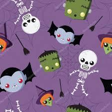 Cute Halloween Vector Cute Halloween Repeat Pattern U2014 Stock Vector Vectorfrenzy 85164232