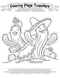 dulemba coloring tuesday dancing cacti
