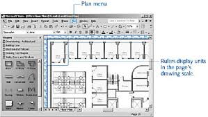 visio floor plan scale starting with a basic floor plan microsoft visio version 2002