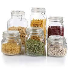 kitchen glass canisters kitchen storage food safe glass kitchen glass jar plastic seal lid