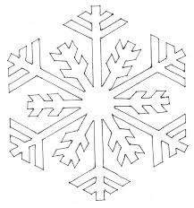 free snowflake templates coloring home