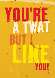 rude valentines cards you re a but i like you rude greeting card bc1082