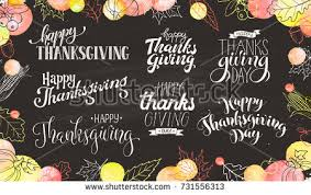 thanksgiving wording on chalkboard happy thanksgiving stock vector