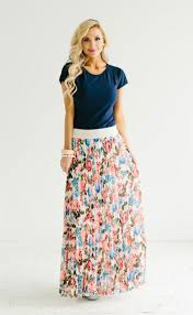 maxi skirt pretty floral pleated maxi skirt modest dresses and clothing for