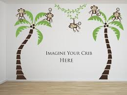 Nursery Monkey Wall Decals Give A Creative Jungle Look To Your Baby Bedroom With Monkey Wall