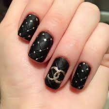 black u0026 gold chanel nails must have mani u0027s pinterest