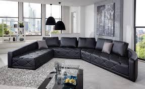 sofa schwarz sam design sofa schwarz wohnlandschaft nero 290 x 380 cm