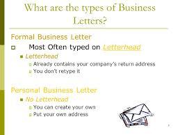 Business Letter Return Address creating a business letter ppt