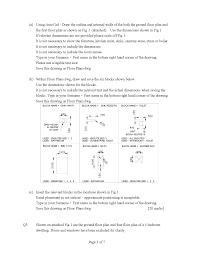 floor insulation drawing amd design cad past exam paper docsity