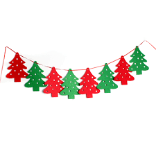 christmas celebration party home decoration wall decor hanging flags
