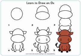 learn to draw an ox